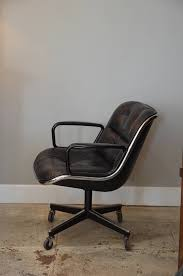 Knoll Pollock Chair Vintage by Midcentury Executive Desk Leather Chair By Charles Pollock For