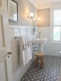 fashionable design ideas white subway tile bathroom black and in