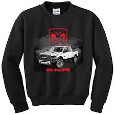 White RAM By The Mountain Kids Sweatshirt Cool Truck Picture Long ...