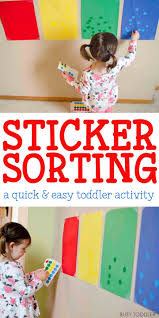 Sticker Sorting Activity A Quick And Easy Toddler