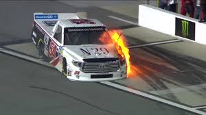 100 Nascar Truck Race Results Natalie Deckers NASCAR Truck Series Debut Goes Up In Flames At