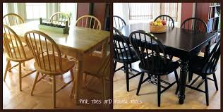 Diy Painting Dining Room Table Painted Ideas Tables Chairs Black Alternative Though