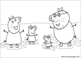 Happiness Family Peppa Pig Coloring Pages