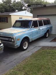1970 Chevrolet Suburban 3 Door Shop Truck Rat Surf Wagon