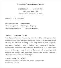 Resume Samples For Construction Jobs Feat Sample Prepare Cool Printable Worker 585