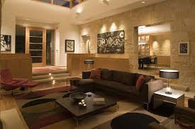 high hats lighting living room contemporary with circles