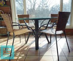 Paint Rattan table update stain chair