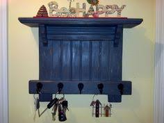 Rustic Antique Shelf With Hooks By HammeredandHewn On Etsy