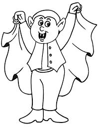 Kid Vampire Coloring Page