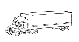 100 Awesome Semi Trucks Truck Coloring Pages With Big Of Rig 18319