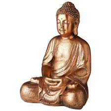 buddha figur 42x30x24 kupfer