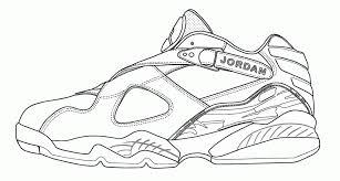 Michael Jordan Sneakers Coloring Page