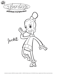 Cyberchase Coloring Pages