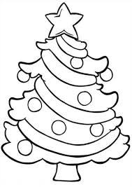 Easy Christmas Tree Coloring Pages For Children And