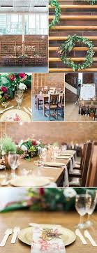 Wedding Decor Inspiration With Wooden Elements And Tables Filled Greenery Bold Florals