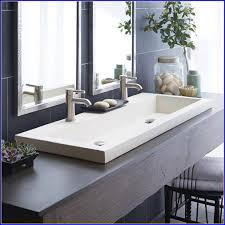 trough bathroom sink double trough sink bathroom vanity white