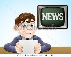 News Reporter An Illustration Of A Studio Television