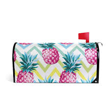 Amazoncom WXLIFE Magnetic Mailbox Cover Large Vintage Pineapple