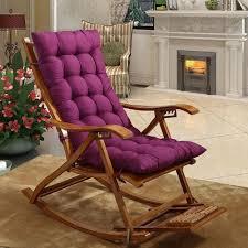 Universal Solid Recliner Rocking Chair Mat Sofa Soft Back Cushions Pillow  For Chair Tatami Mat Lounger Recliner Cushion Pad