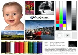 Test Page Epson Printer Color Print