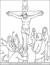 Stations Jesus On The Cross Coloring Page Of Pages Catholic Kid Bible Free Large Images Projects To