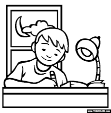 Homework Coloring Page