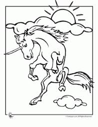 Jumping Unicorn Coloring Page