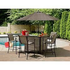 Sears Rectangular Patio Umbrella by Garden Oasis East Point 5 Pc Bar Set