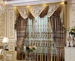 luxury curtain with valance decorate the house with beautiful