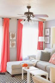 Curtain Ideas For Living Room Pinterest by Sheets For Drapes Pop Of Coral Living Room Home Decor And