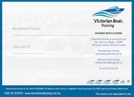 vhf marine radio licence course gift voucher boat