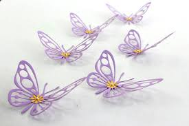 Items Similar To Purple Butterfly Baby Shower Wall Art Paper Butterflies 3d Birthday Decorations Nursery Decor