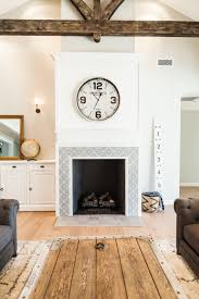 Batchelder Tile Fireplace Surround by Custom Interior Fireplace With Cement Tile Inlay By Rafterhouse