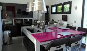 cuisine moderne design avec ilot cuisine aménagée réalisations yerres