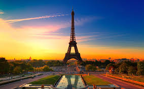 Paris At Sunset HD Desktop Wallpaper Widescreen High Definition