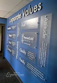 Corporate Values Display For Permacold Portland OR Design OfficesOffice DesignsOffice Wall