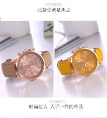 New Casual Watches Women Dress Roman PU Leather Quartz
