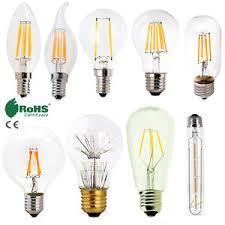 retro e12 e27 e14 dimmable led edison bulb light filament l