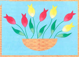 Mothers Day Craft Ideas For Kids Quilling Greeting Card BASKET With TULIPS