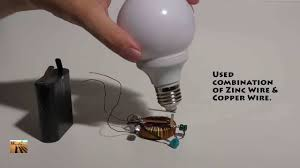 magic trick wireless electricity for light bulb energy transfer