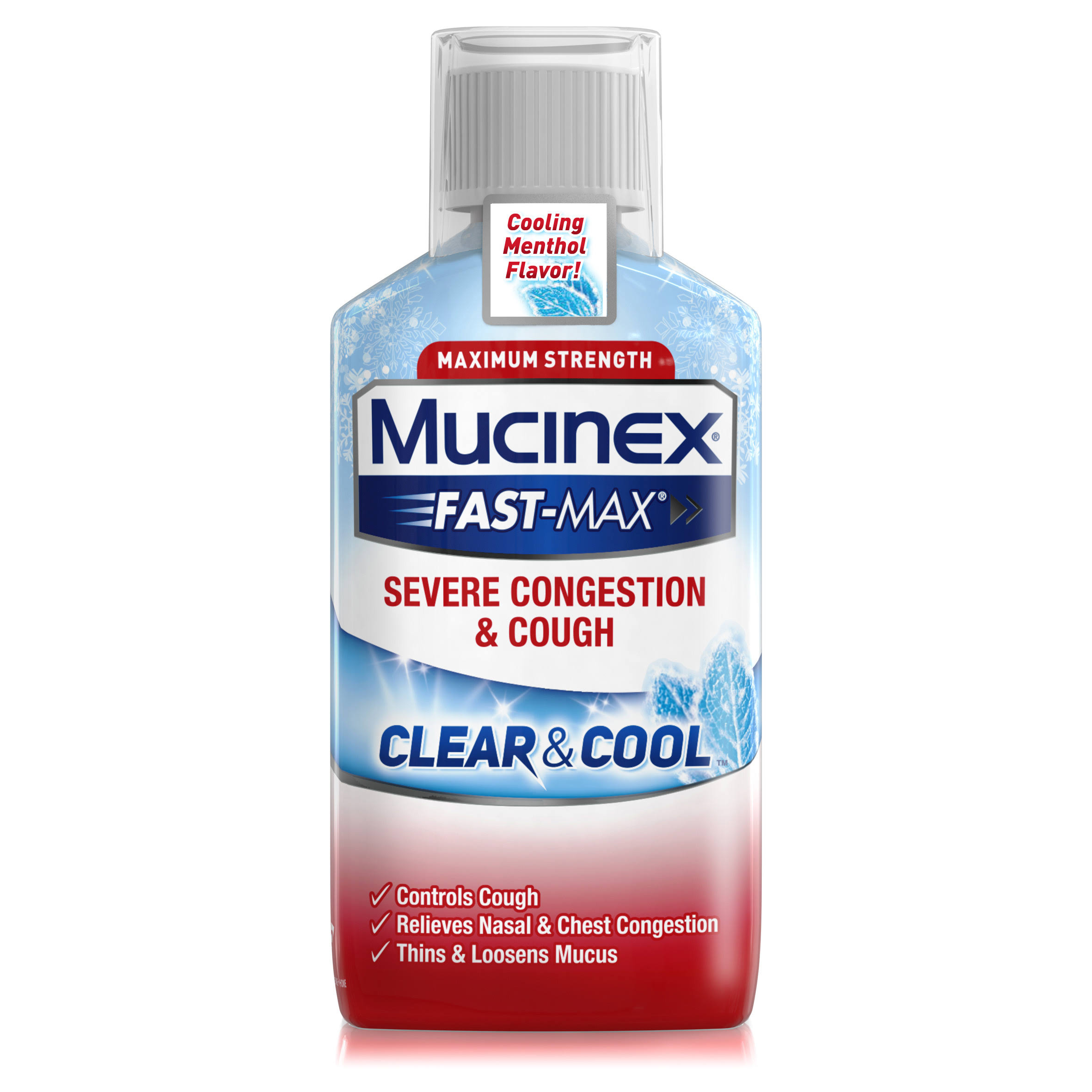 Mucinex Fast-Max Severe Congestion & Cough Medicine - 6oz, Clear & Cool