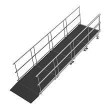 Universal Straight ADA Wheelchair Ramp For 16