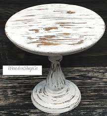 Custom Round Cake Stand Rustic Wooden Inch Wedding