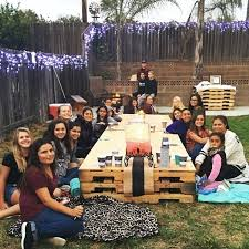 Bonfire Party Ideas For Teen Pallet Table Night Decorations
