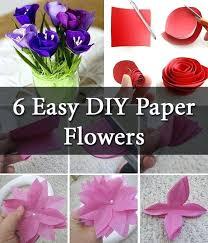 Paper Flower Step By Making Tutorials Craft Easy Videos Share Diy