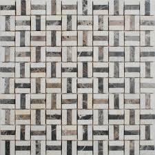 tile backsplash kitchen design brown and blend mosaic