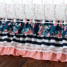Coral And Navy Baby Bedding by Charlie U0027s Coral U0026 Navy Floral Baby Bedding Fall In Love With