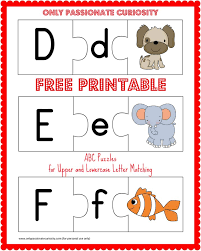 FREE Printable ABC Puzzles Upper and Lowercase Letter Matching