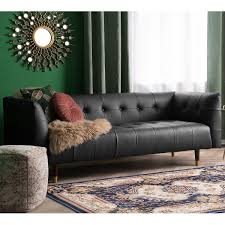 Bisk Faux Leather Sofa 3 Seater Black Or Brown