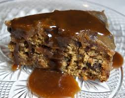 Sticky Toffee Pudding with Chocolate Chips and Toffee Sauce
